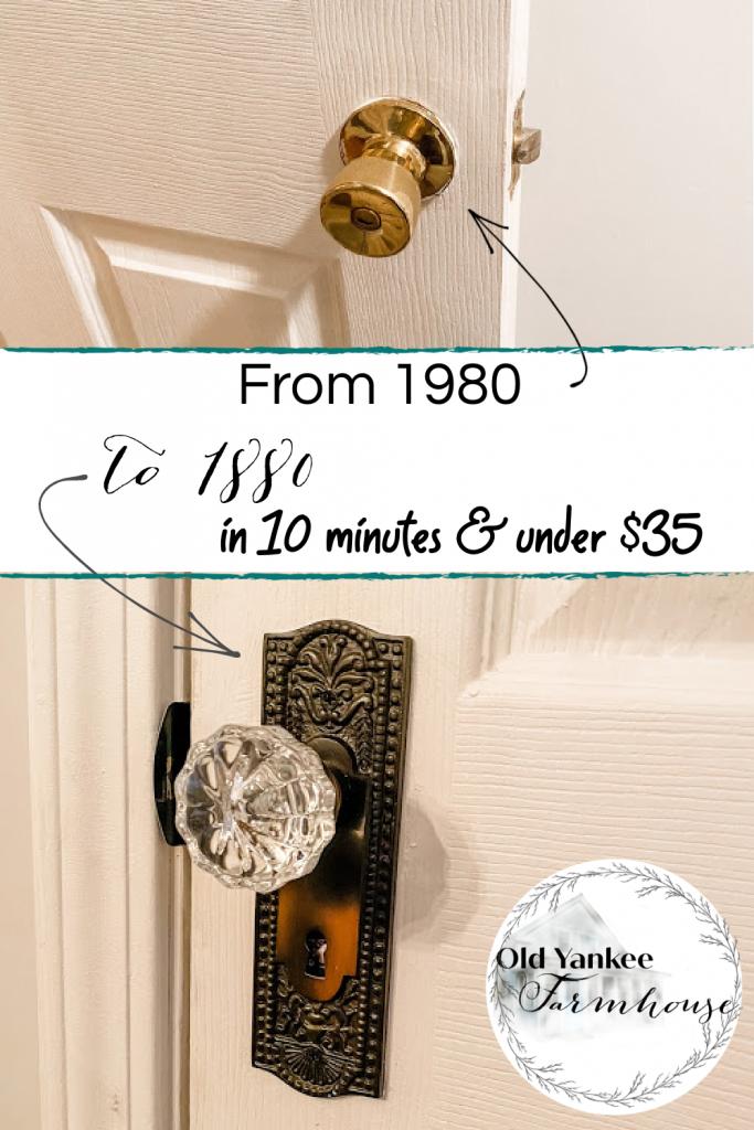 Adding historic doorknobs to any door!