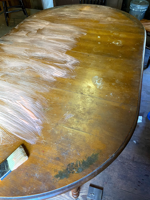 refinishing stenciled furniture