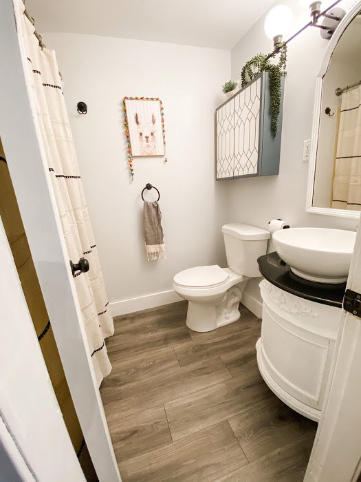 mini bathroom makeover for under $500
