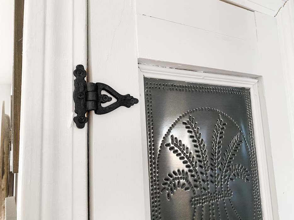 Pie safe cabinet door
