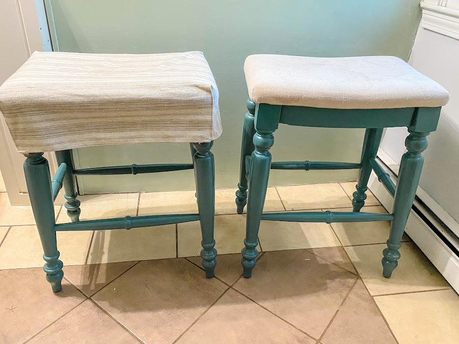 quick & easy kitchen stool slipcovers