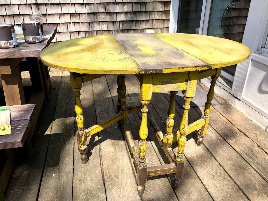 vintage table restoration