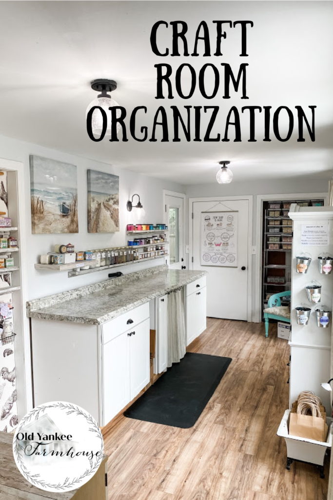 Take a tour of my craft room with organizing ideas for all those supplies!